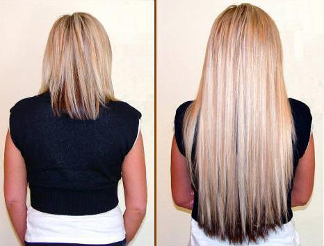 Красивое и популярное ленточное наращивание волос